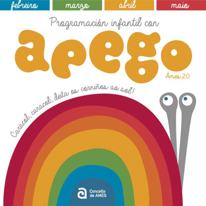Ames presenta a programación infantil con Apego para os meses de febreiro, marzo, abril e maio